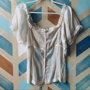 Sheer ivory blouse